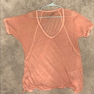 Peach free people size small top